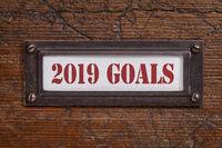2019 goals - file cabinet label