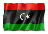 Libyan flag isolated on white
