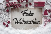 Christmas Decoration, Calligraphy Frohe Weihnachten Means Merry Christmas