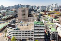 myeongdong Downtown cityscape in South Korea