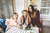 Three girls at the table