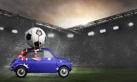 Australia car on football stadium