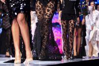 Fashion catwalk runway show female models
