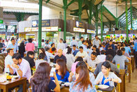 People lunch food court. Singapore