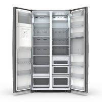 3D rendering large fridge