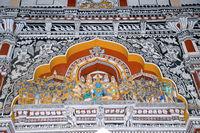 Mural in Durbar Hall, Thanjavur Maratha Palace, Tanjore, Tamil Nadu