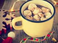 Hot chocolated with marshmallows