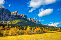 Shining autumn day in Canmore