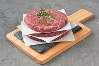 Raw beef meat burger