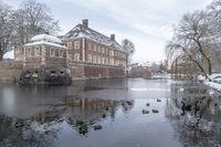 Barockschloss Ahaus im Winter