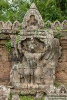 Garuda sculpture on Preah Khan temple wall