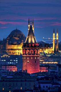 Galata Tower and Süleymaniye Mosque