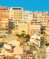 Lisbon Old architecture background Portugal