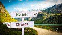 Street Sign Normal versus Strange