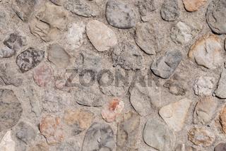 Steinboden oder Steinwand als Hintergrund und Textfreiraum