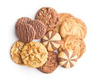Various types of sweet cookies.