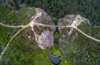 Bridge between two cliffs Grand Clifftop Walk  Blue mountains