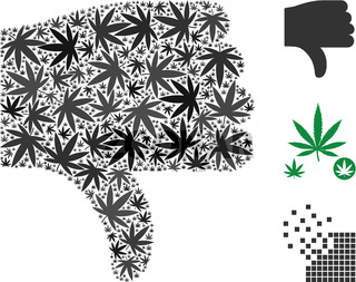 Thumb Down Collage of Marijuana