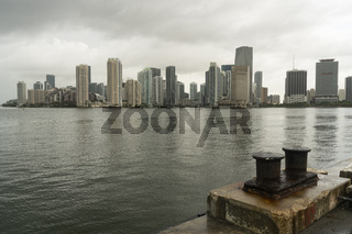 Looking at Point View from Dodge Island Miami Florida