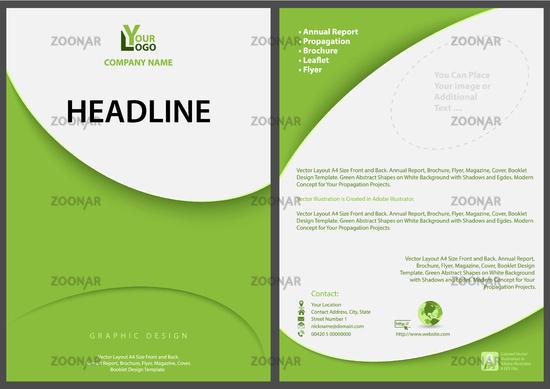 Green Flyer Template | Foto Green Abstract Flyer Template Bild 12209403