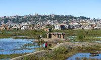 Arme Vorstadtsiedlungen von Antananarivo, Madagaskar