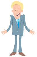 businessman comic cartoon character