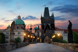 Charles Bridge in morning