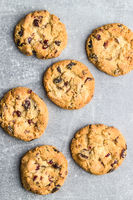Sweet cookies with raisins.