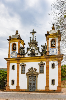 Old and historic church in the city of Sabara, Minas Gerais