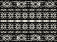 Black and White Striped Abstract Ornate Pattern