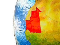 Mauritania on 3D Earth