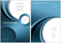 Blue Front and Back Flyer Template