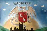 Zeichnung Wappen Worms am Main