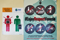 Urban police regulation poster in Venice