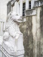 Statue of a venecian lion at koper