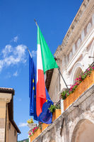 flag of Italy and Europe