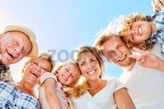 Glückliche Drei Generationen Familie