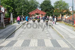 Alte Brücke Gamle Bybroen in Trondheim