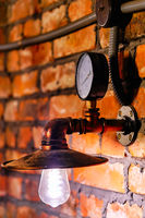Steampunk style lamp and manometer