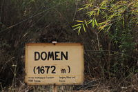 Domen. Sign in the Langtang National Park.