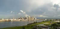 The Mississippi River Flows By The New Orleans Waterfront