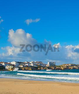 Ocean seashore town. Baleal, Portugal