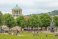 Schlossplatz mit Kunstgebäude, Stuttgart
