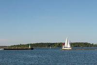 Die Leuchttuerme in Stralsund. Deutschland