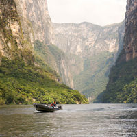 Tourists In Sumidero Canyon Chiapas, Mexico