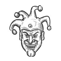 Crazy Medieval Court Jester Drawing