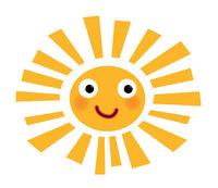 little joyful and colorful sun