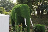 Grass Sculptures, Hadshi Temple, Sant Darshan Museum near tikona Vadgoan Maval, District Pune, Maharashtra, India