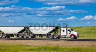 Edmonton Alberta Canada June 26, 2018 Truck on the highway