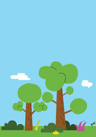 illustration of a tree in a park in flat style